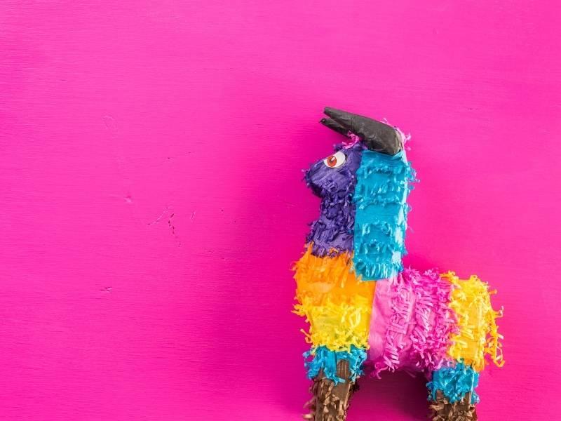 Piñata fondo mexicano papel