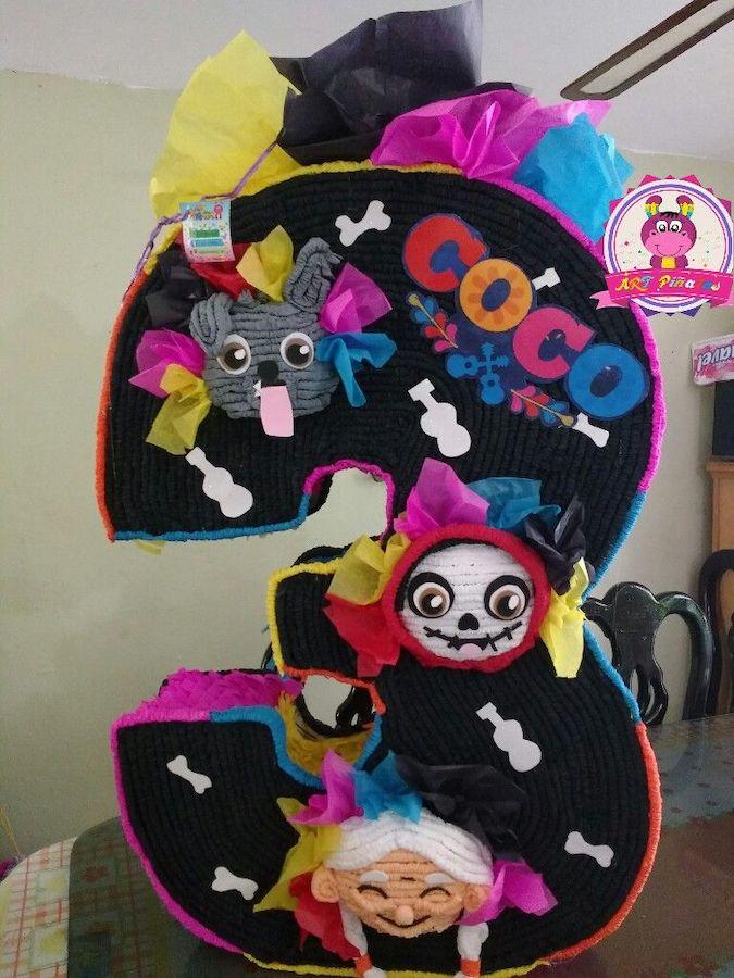 coco piñata de 3 años