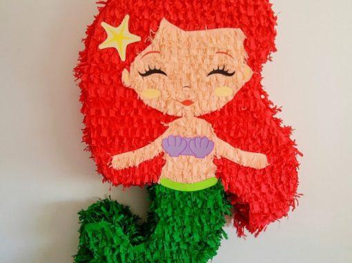 mini piñatas de la sirenita