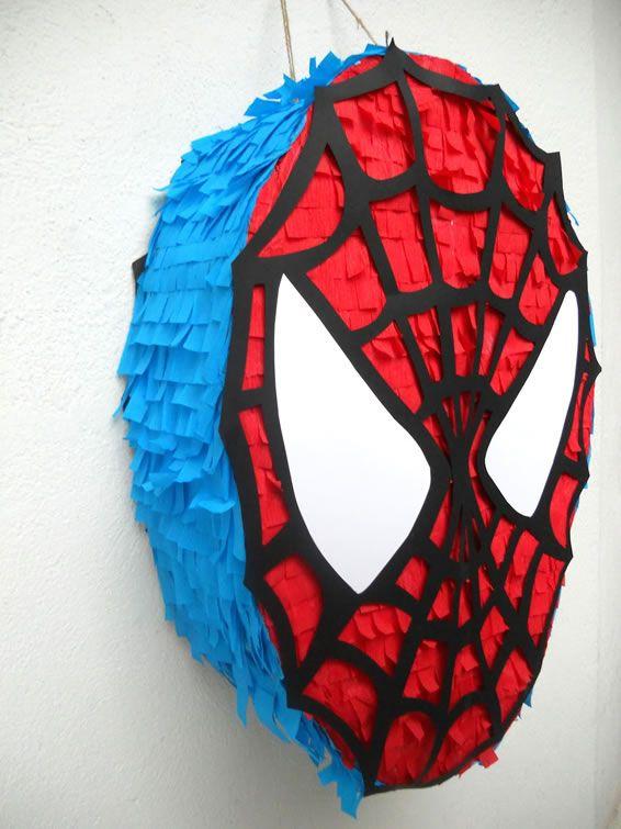 piñata de spiderman cara