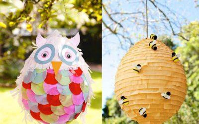 piñatas con globos panal de abejas