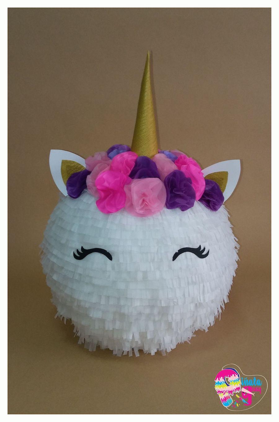 piñata globos unicornio