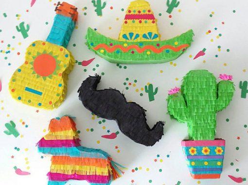 Piñatas minis día de México