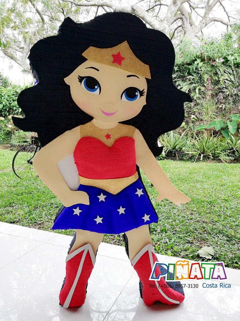 piñata mujer maravilla cuerpo