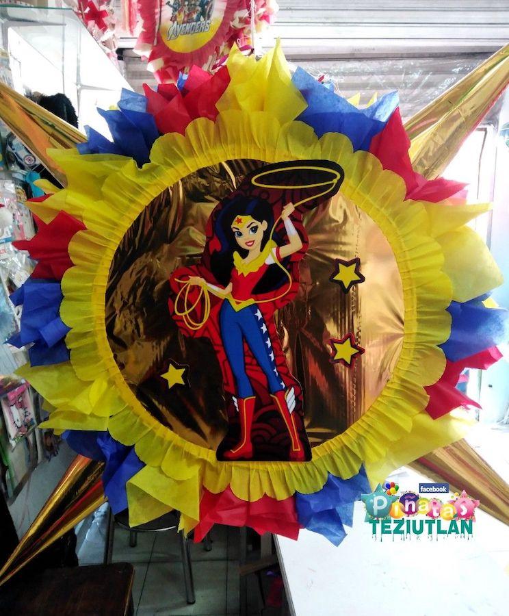 piñata mujer maravilla tambor