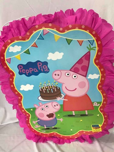 piñata peppa pig Cuadrada