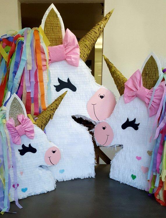 piñatas de unicornio