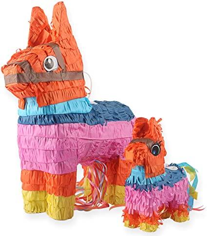 piñatas de papel burro