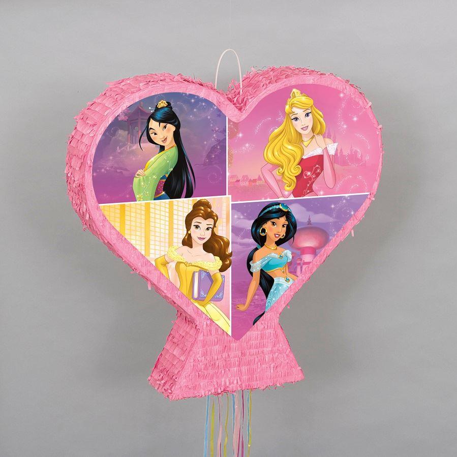 pinatas de princesas corazon