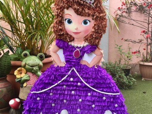pinatas de princesas vestido