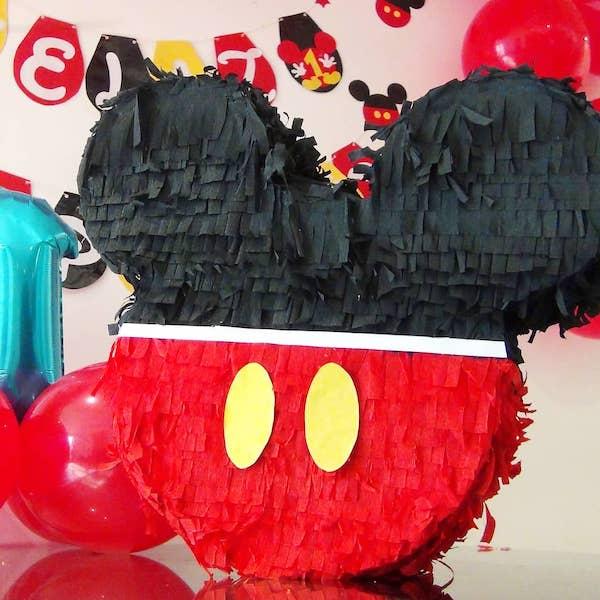 cabeza piñata de mickey mouse