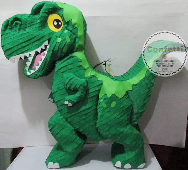 como hacer piñatas de dinosaurios rex