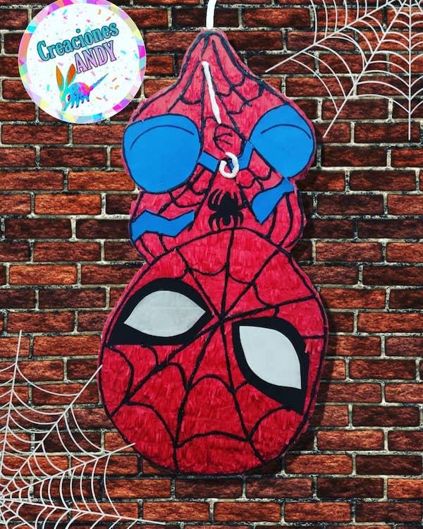 como hacer pinatas de spiderman
