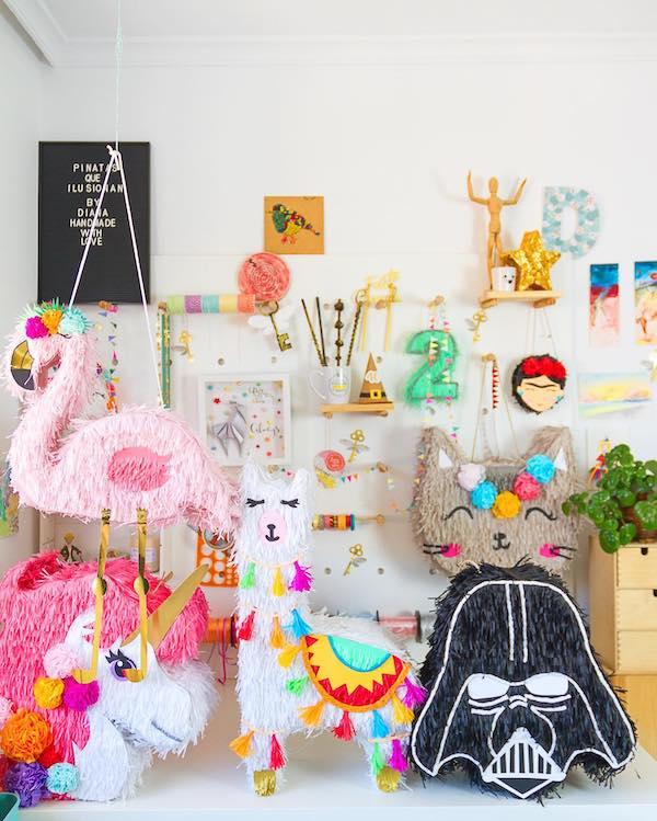 imagenes de pinatas de unicornio para ninas