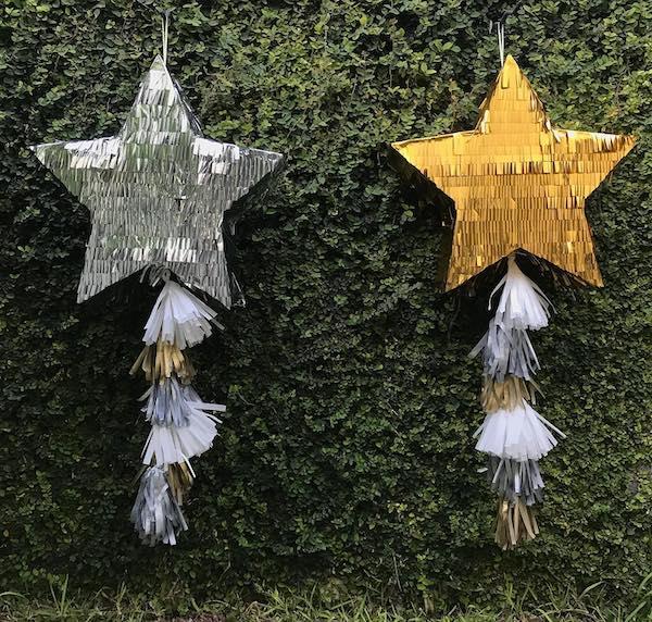pinata de estrella de santa claus