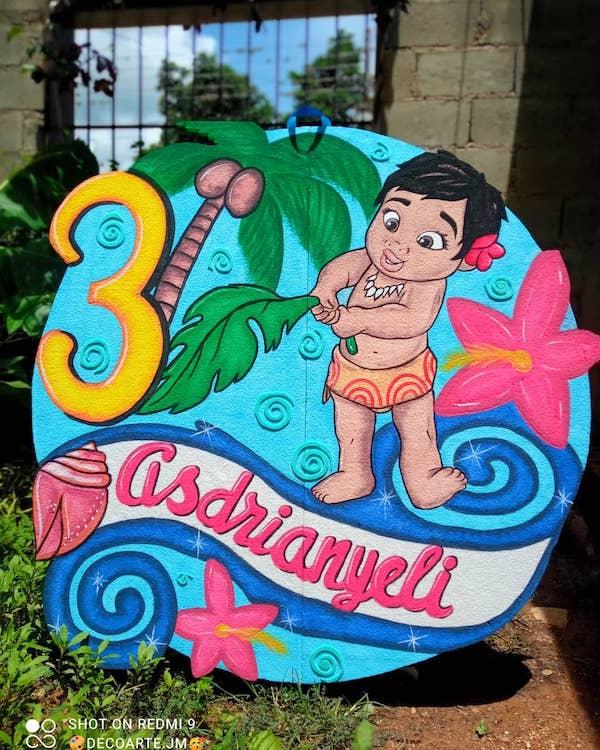 pinata de moana bebe 2