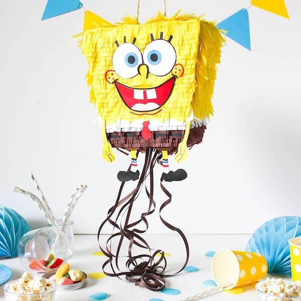 piñatas de bob esponja carton