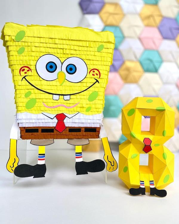 piñatas de bob esponja numeros