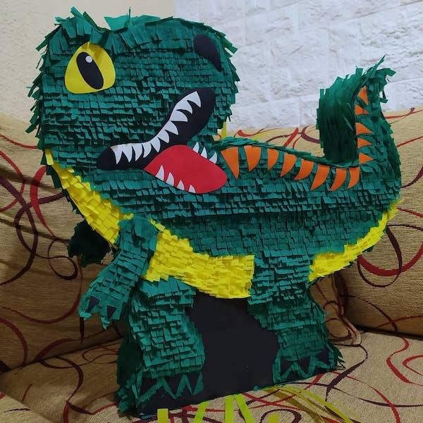 piñatas de dinosaurios papel