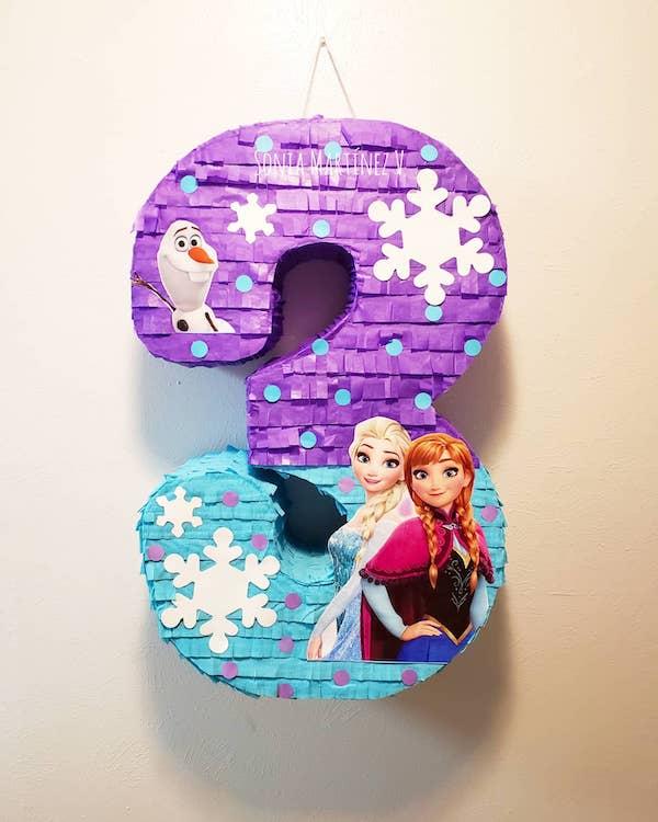 piñatas de frozen elsa numero 3