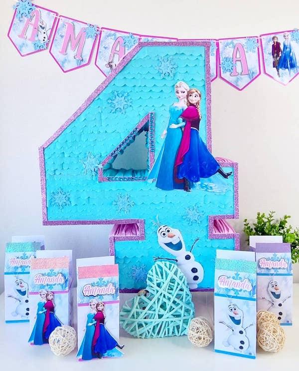 piñatas de frozen numero 4