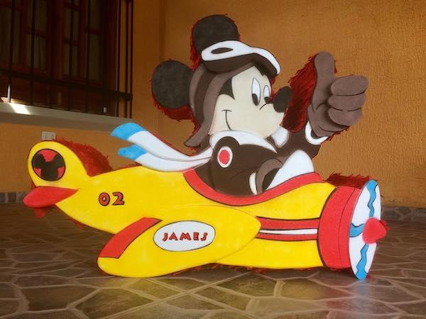piñatas de mickey mouse avion