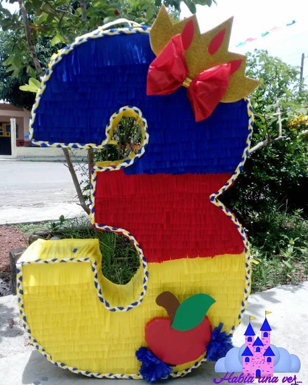 piñatas de numeros 3 princesas