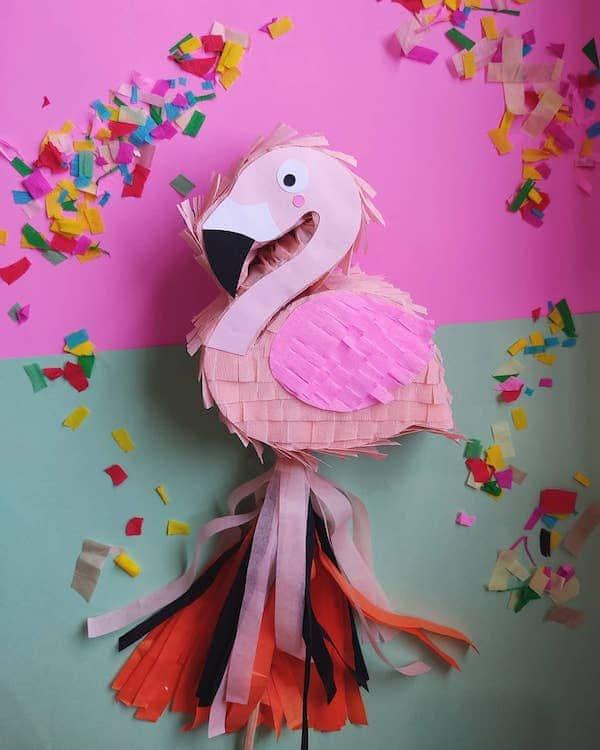 Decoracion de flamingo para nina