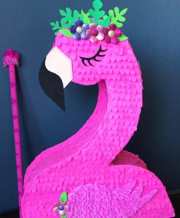 Decoracion de flamingo sencilla
