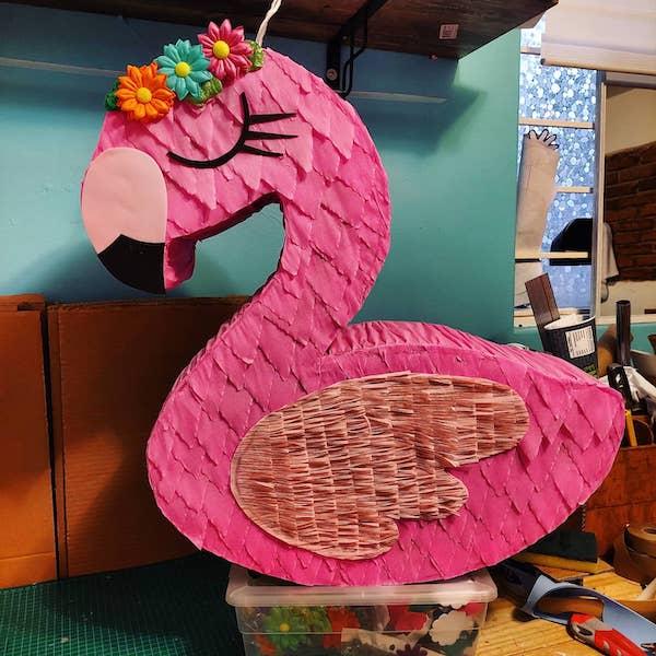 Pinatas mexicanas flamingo